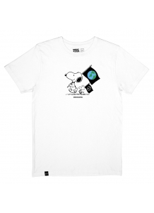 Snoopy Flags White